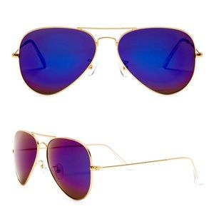 new AQS ✌︎︎ 58mm Mirror Aviator Sunglasses ✌︎︎